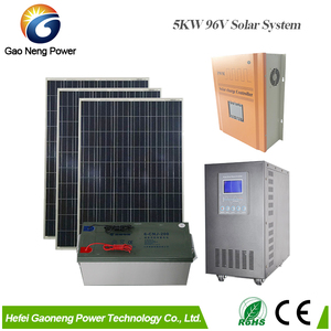 5 KW solar power air conditioning system with battery