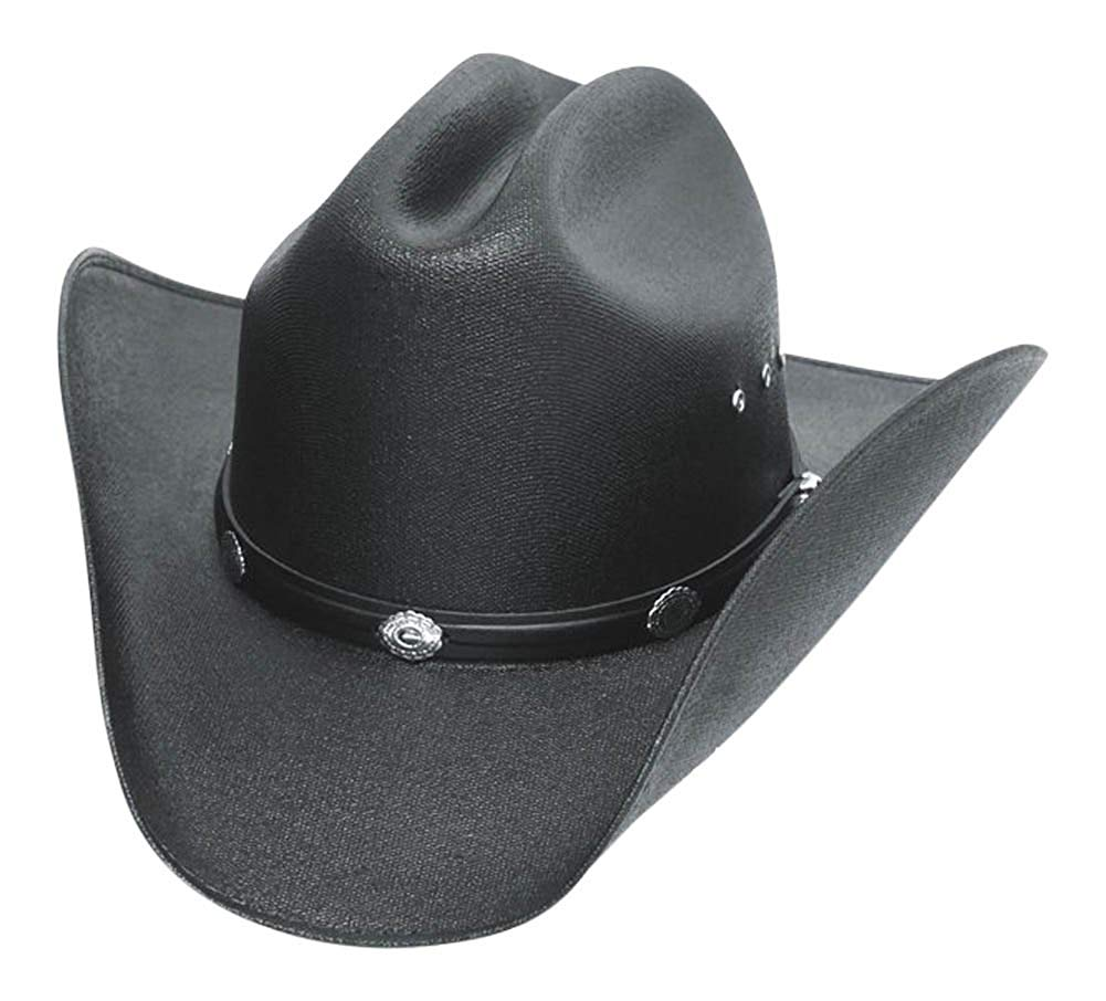 4d3a56fb8c05f6 Get Quotations · Western Express Classic Cattleman Straw Cowboy Hat with  Silver Conchos