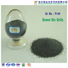 high self sharpening wafer cutting abrasive polishing F14# green silicon carbide grain