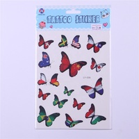 Hot sale custom butterfly design tatoo sticker off,temporary kids stickers tattoos