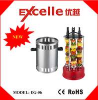 6 skewers electric vertical rotating bbq grill
