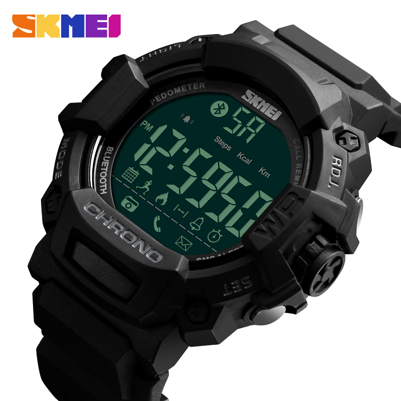SKMEI 1249 Smart Digital Watch Instructions Sport Watch Men Phone Multi funtion Wrist Watch, 1 colors for choose from