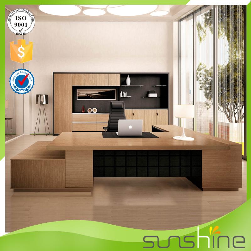Nouveau design mdf de luxe table en bois modulaire mobilier de bureau moderne pdg ex cutif - Bureaux modernes design ...