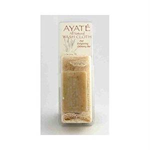 Thai Deodorant Stone Ayate All Natural Wash Cloth With Cleansing Bar - 1 Bar pack of - 1