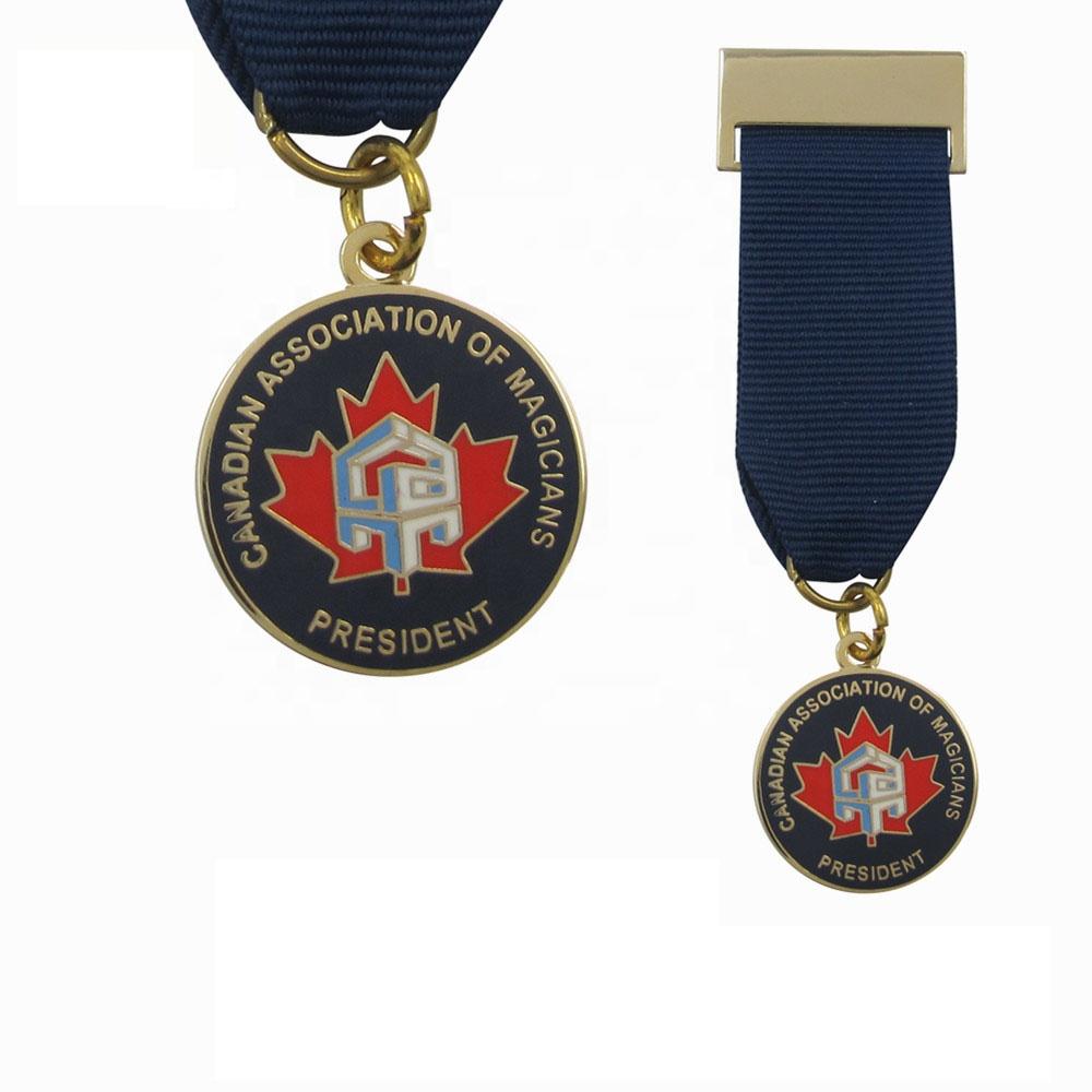 Metal honor award canada magician society union association jack lapel pins medal badge