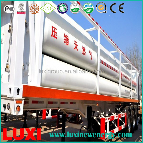 Gas Station 25MPa Fuel Tank Trailer , Cheap Semi Trailers