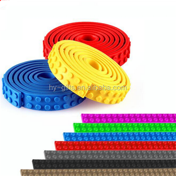 flexible silicone nimuno loops colorful block tape building block tape