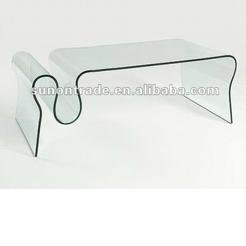 Hand Curved Bent Gl Coffee Table