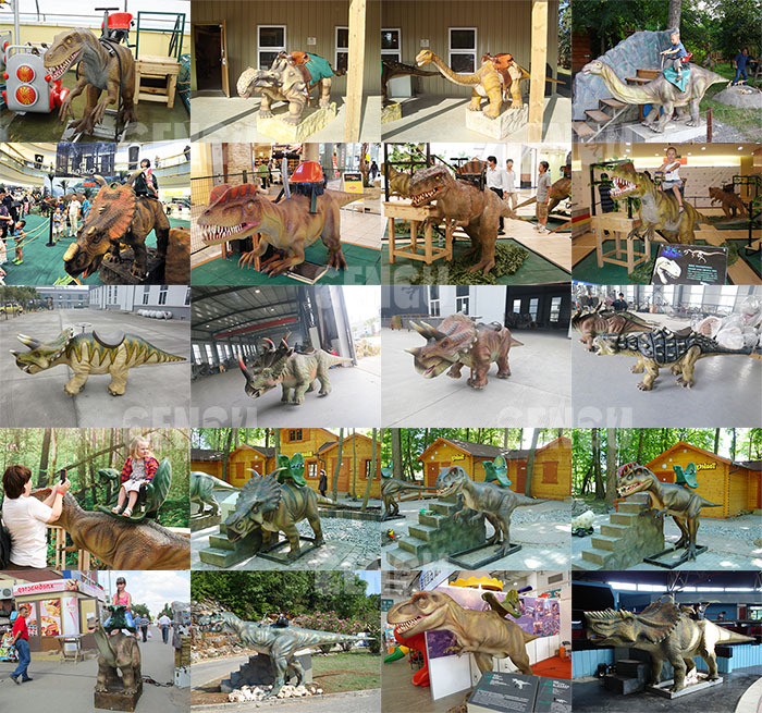 Mechanical Dinosaur Ride Children Park Dinosaur Ride
