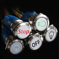 19mm Customization Metal Push Button Switch 12V 220V 110V LED Light momentary latching OEM Car Auto Motorcycle switch