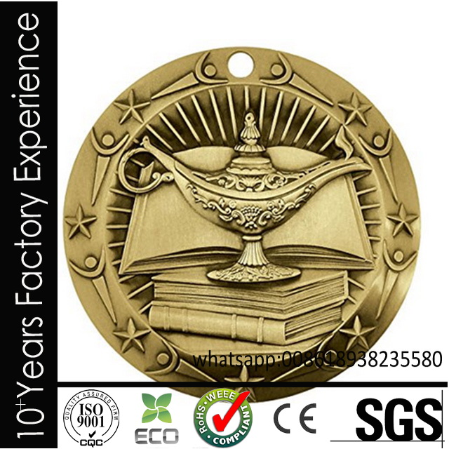 CR-CM5455 Multifunctional 2016 nickel plated metal cheap custom medals no minimum order with ce certificate with low price
