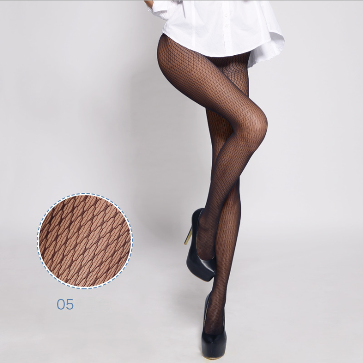 990e0b86c7844 TATOO Jacquard pattern seamless pantyhose Hot Sexy Mesh Women Fishnet Tights  Long Stockings Sexy Fishnet Pantyhose
