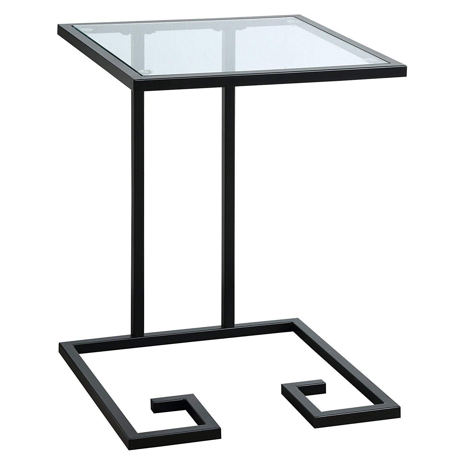 Indoor Multi-Function Accent Table Study Computer Home Office Desk Bedroom Living Room Modern Style End Table Sofa Side Table Coffee Table Black accent table