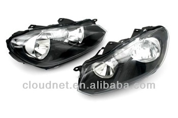 Euro Halogen Headlight For VW Volkswagen Golf MK6