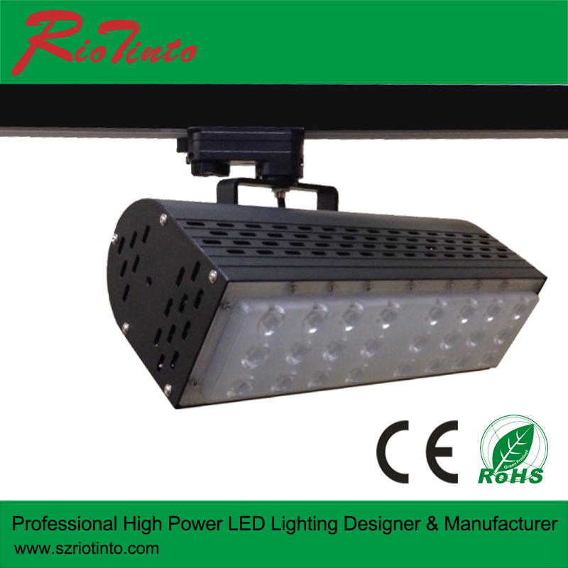 3 Phase Lighting Track Rail 90RA 50W COB LED Track Spot Light with 5 years warranty