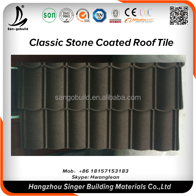 Different Roofing material Types Of Roofs, Stone coated shingle roof tiles factory