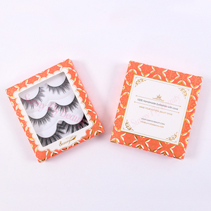 Charming korean individual wholesale strip fake 100 human hair eyelashes