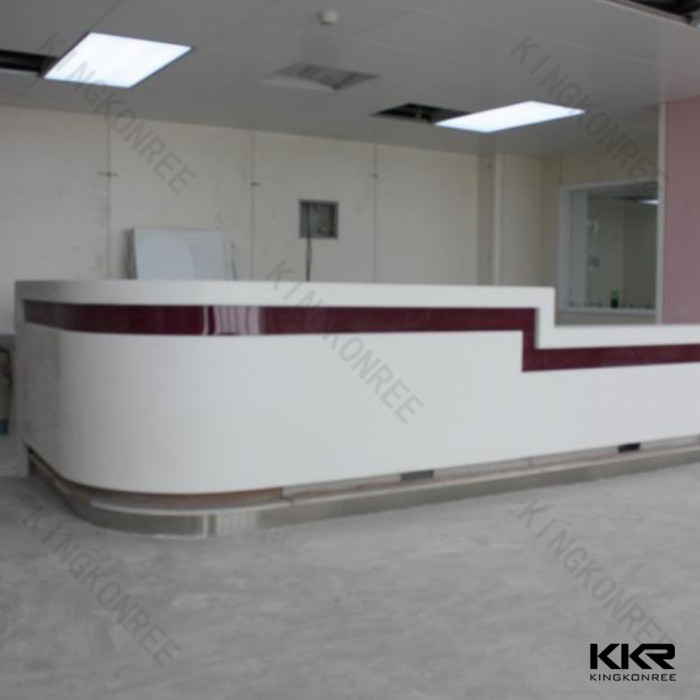 High end marble stone office reception desk/hotel front reception desk