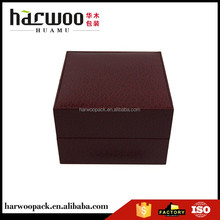 single paper watch case,deep red watch box,wholesale paper watch box made in china