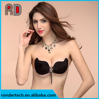 8ef4753c2b5f0 Fashion Sexy Women Adjustable Backless Push-up Breast Lift Self Adhesive  Strapless Invisible Silicone Gel