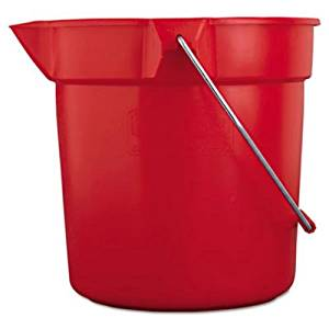 RCP2963GRA - Rubbermaid-Gray Brute Plastic 10 Quart Round Bucket