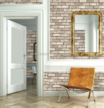 3d Brick Design Viny Wallpaper White Brick Wallpaper For