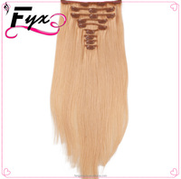 27# Color Clip in Hair Extensions 18inch Long Straight Fake False Hair Extension Heat Resistant Malaysian Natural Hair Extension