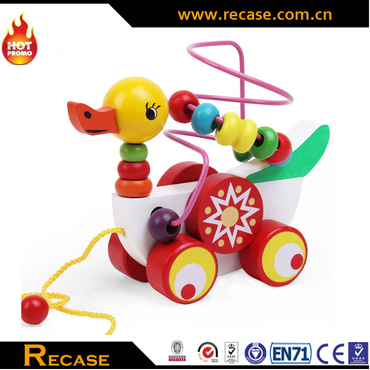 New Multifunction Safety Wooden Baby Walker and Pull Along Toys
