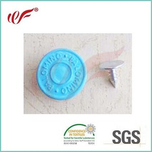 Garment Accessories Blue Painting Enamel Jeans Button And Rivet