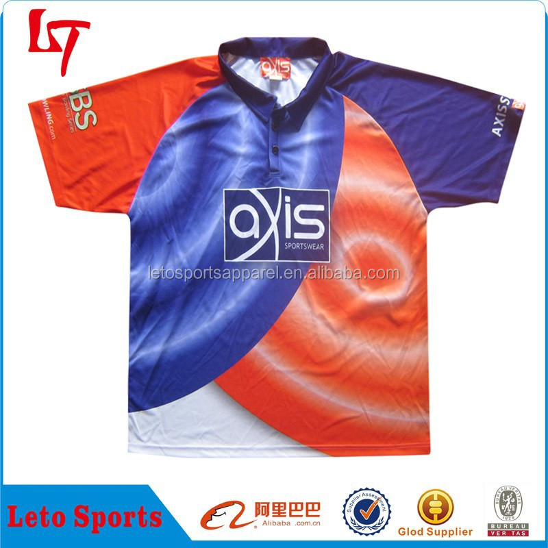 Top quality polyester&spandex polo t shirt /3 button promotion color curve matching polo jersey