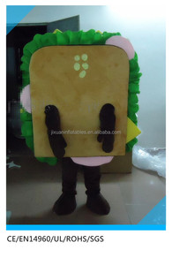 Hot sale cheap kids Sandwich mascot costume for funny