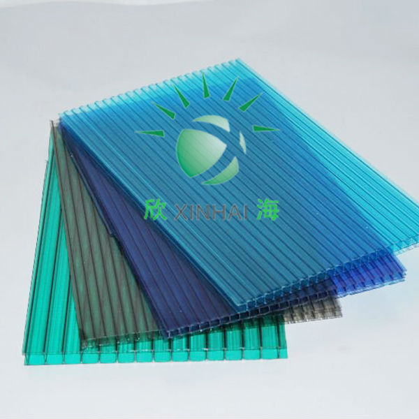 10years warranty uv coat 20mm polycarbonate multiwall sheet/polycarbonate roofing/pc eraction partition