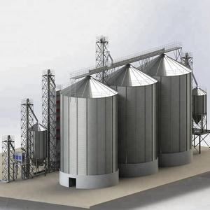 Reusable And Durable Corn Grain Storage Bolted Steel Silo Assembly Steel Silo