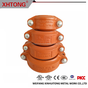 Cast Iron Grooved Pipe Fittings Rigid Coupling
