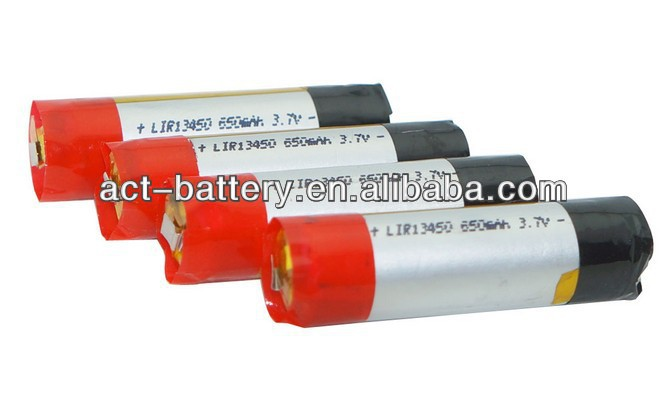 3.7v lipo 13450 650mAh e-cigarette battery mini ego vv battery battery