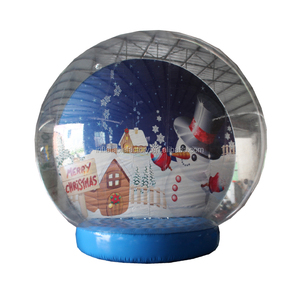 inflatable giant Christmas snow globe for decoration