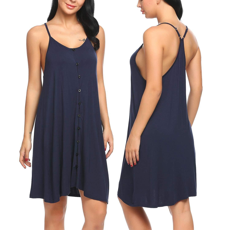 Get Quotations · Langle Slip Dress Womens Nighties Sleewpear Solid Lounge  Dress Sexy Nightgowns S-XXL 18e1193ca