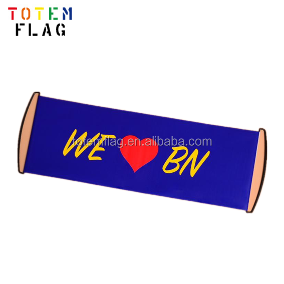 PVC Flex Banner Size , Fan Cheering Roll Banner , Hand Held Scroll Banner