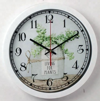 Natural Best Ing Decorative White Plastic Wall Clock With Living For Plants Quote