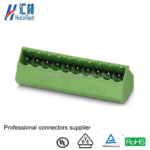 Electrical socket Phoenix contact 45 degree angle male terminal block