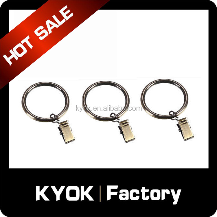 KYOK 2 inch, set of 14, Silver Curtain Rings