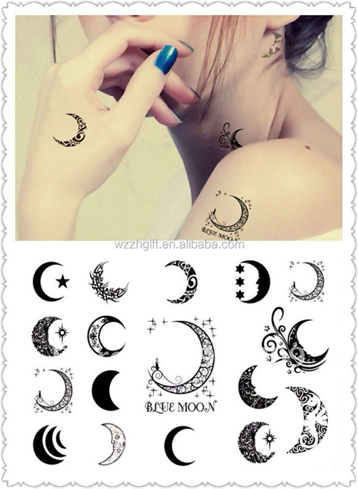 mysterious artworks tattoo sticker for face and body