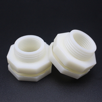 Plastic Bulkhead For Water Container Tank Connector Fittings