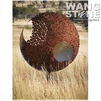 Attractive New Design Corten Steel Outdoor Metal Garden Art Wholesale