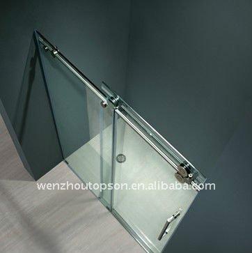Rectangular de vidrio templado sin marco puerta corredera - Puertas correderas de vidrio templado ...