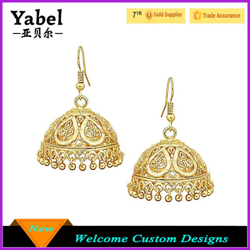carat gold earrings jewellery jhumka long jewellers yellow hallmark online