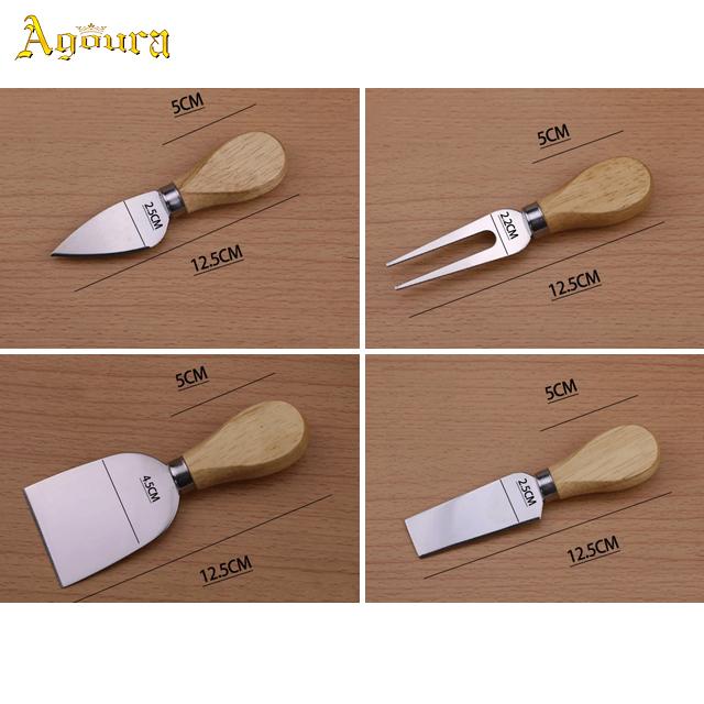 Wholesale Oak Wooden Handle Butter Knife Cheese Knife