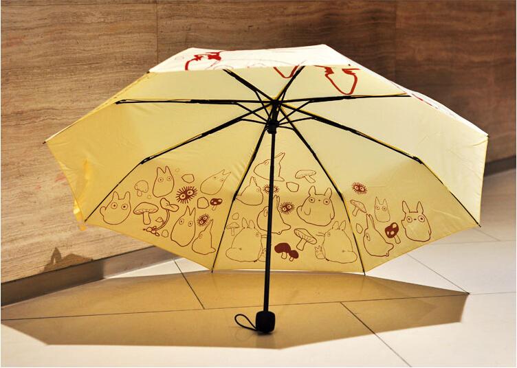 Супер милый тоторо зонтик аниме комикс сложенный зонтик солнечный и дождливый ультрафиолетовый длинная зонтик день рождения подарок