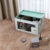 Foldable Clear Transparent Window Small Storage Box with Lid Handle
