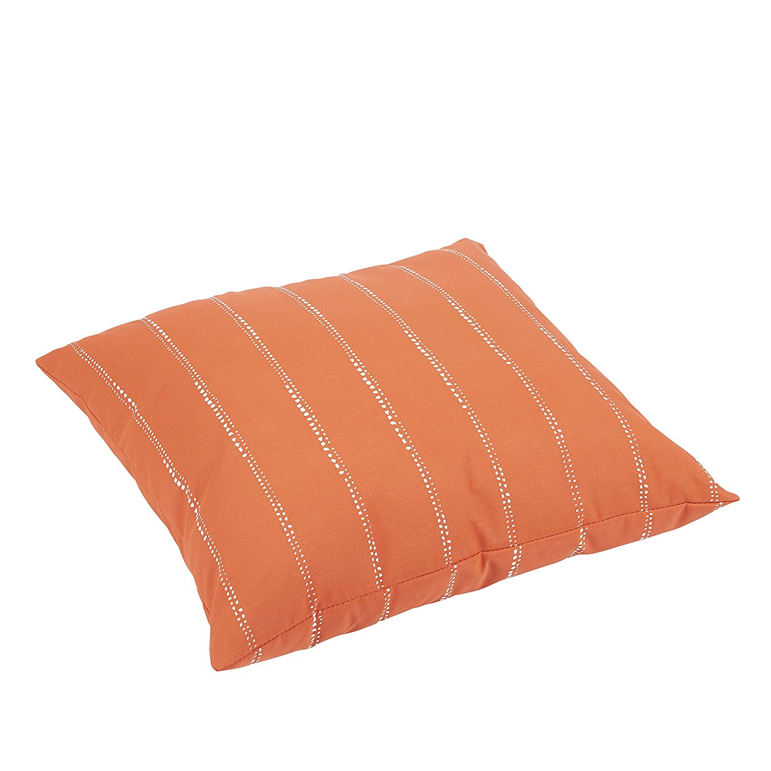 Mozaic Company Caldwell II Orange Dotted Stripes Indoor/ Outdoor 26 inch Knife Edge Floor Pillow